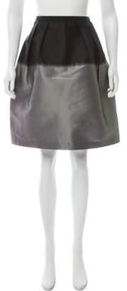 Behnaz Sarafpour Two-Tone Mini Skirt Grey Two-Tone Mini Skirt