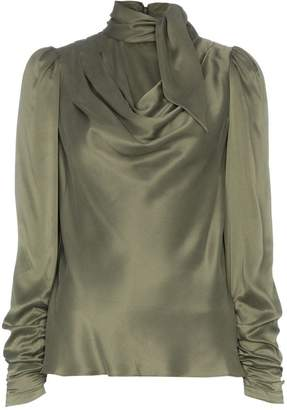 Zimmermann Scarf Neck Tie Blouse