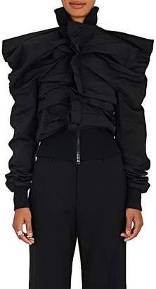 Yohji Yamamoto Women's Pleated Cotton-Blend Jacket $2,190 thestylecure.com