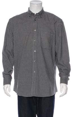 Luciano Barbera Plaid Flannel Shirt