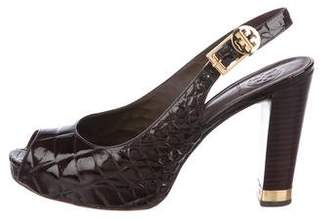 Tory Burch Peep-Toe Slingback Pumps