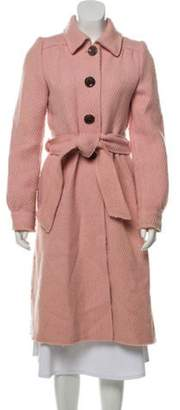 Marc Jacobs Wool Point-Collar Coat pink Wool Point-Collar Coat