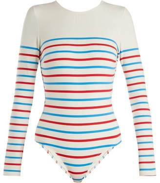 Solid & Striped The Margon Long Sleeved Swimsuit - Womens - Multi Stripe
