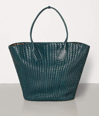 Bottega Veneta LARGE BASKET TOTE IN INTRECCIO RETE