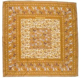 Hermes Chasse en Inde Silk Scarf
