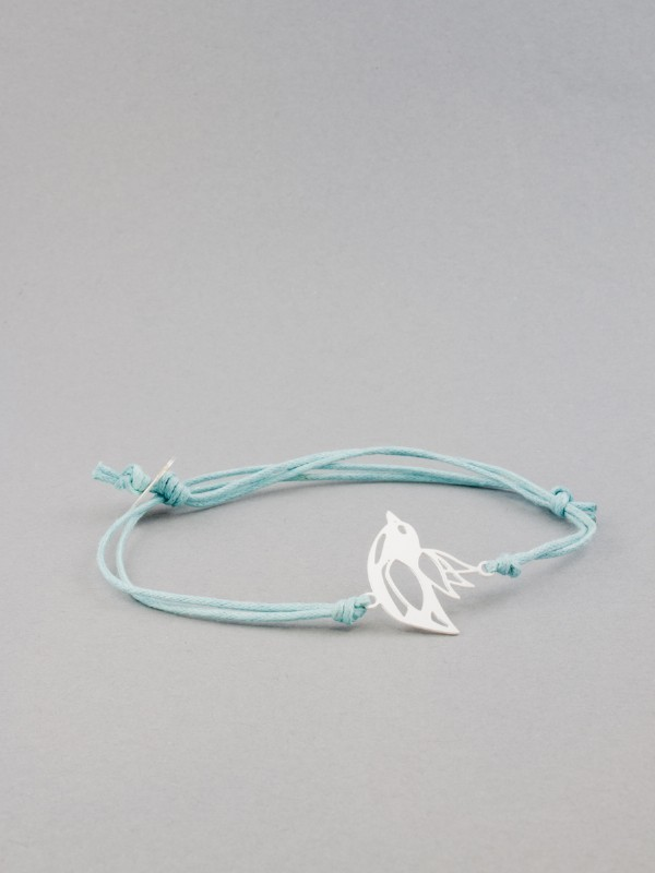 Kris Nations Silver Small Bird Charm Bracelet