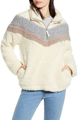 Thread & Supply Chevron Stripe Wubby Fleece Pullover