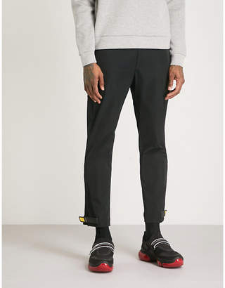 Prada Adjustable-cuffs straight shell trousers