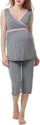 Kimi and Kai Penny Nursing/Maternity Pajamas
