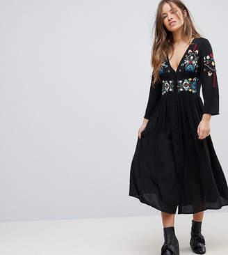 Asos Embroidered Maxi Dress