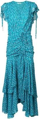 Veronica Beard floral print tiered dress