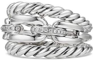 David Yurman Wellesley Three Row Ring with Diamonds
