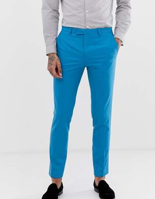 Twisted Tailor super skinny suit pant in bright blue