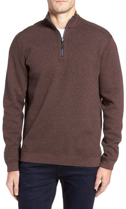 Tommy Bahama Flip Side Reversible Quarter Zip Twill Pullover $98 thestylecure.com