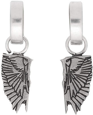 Marcelo Burlon County of Milan Silver Wings Earrings