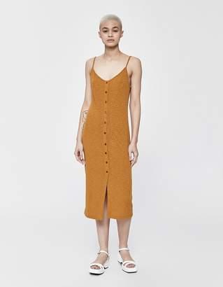 Stelen Marcelina Button Down Tank Dress in Mustard