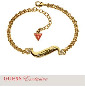 GUESS Gold-Tone Small Banner Link Bracelet