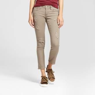Dollhouse Women's Slit Knee Crop Skinny Jeans - Dollhouse (Juniors') - Olive $29.99 thestylecure.com