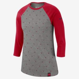 Nike Chicago Bulls Dri-FIT Women's 3/4-Sleeve NBA T-Shirt