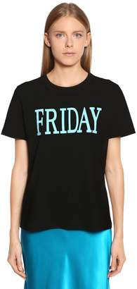 Alberta Ferretti Friday Cotton Jersey T-Shirt
