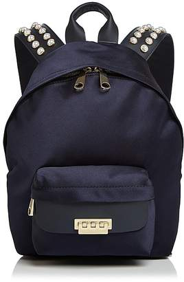 Zac Posen Eartha Iconic Faux-Pearl Small Satin Backpack