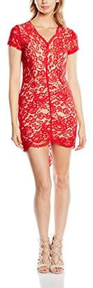 Glamorous Women's Glam Lace Body Con Short Sleeve Dress,(Manufacturer Size:Large)