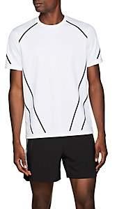 BLACKBARRETT Men's Angled-Lines Tech-Jersey T-Shirt - White