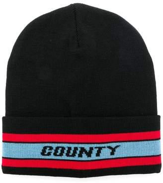 Marcelo Burlon County of Milan colour-block beanie hat