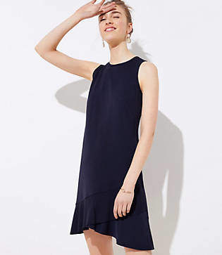 LOFT Crossover Flounce Dress