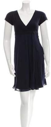 Brunello Cucinelli Silk Drape-Accented Dress