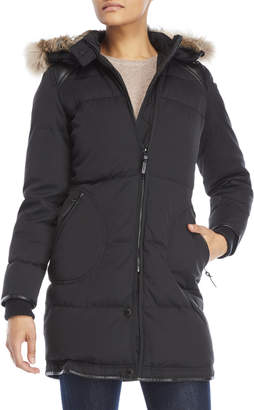 Atelier Noir By Rudsak Coat with Real Fur-Lined Split Hood