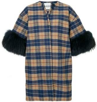 Ava Adore short sleeve plaid coat