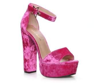 Fahrenheit Mark and Maddux Chunky Heel Women's Platform High Heel Sandals