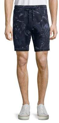 Michael Kors Palm-Print Cotton Shorts