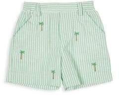 Florence Eiseman Baby Boy's Stripe Seersucker Palm Tree Shorts