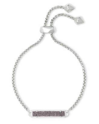 Kendra Scott Stan Silver Adjustable Chain Bracelet in Multicolor Drusy