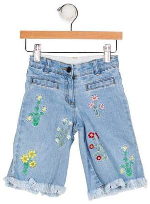 Stella McCartney Girls' Floral Embroidered Jeans