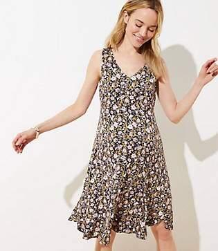 b21e0c7960f4 LOFT Maternity Floral V-Neck Flounce Flare Dress