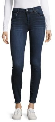 7 For All Mankind Solid Buttoned Jeans