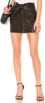 Frame Waist Tie Mini Skirt