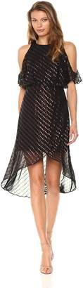 Ali & Jay Women's You Can't Handle All This Sparkle Cold Shoulder Dress