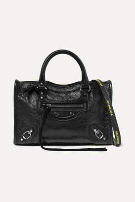 Balenciaga Classic City Nano Textured-leather Shoulder Bag - Black