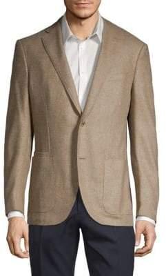Luciano Barbera Classic Wool Tweed Sportcoat