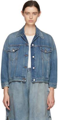 MM6 MAISON MARGIELA Blue Oversized Jacket