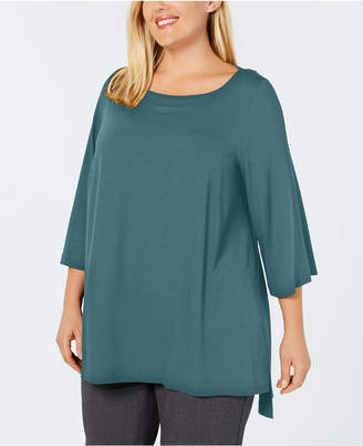 Eileen Fisher Plus Size Stretch Jersey High-Low Tunic