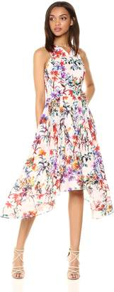 Adelyn Rae Women's Vanessa Woven Printed Fit and Flare