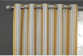 Brooklyn Stripe Blockout Eyelet Curtains