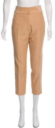 J. Mendel High-Rise Straight-Leg Pants
