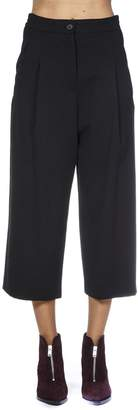 McQ Black Wool Cropped Pants