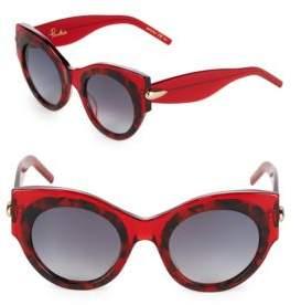 Pomellato 48MM Round Printed Sunglasses